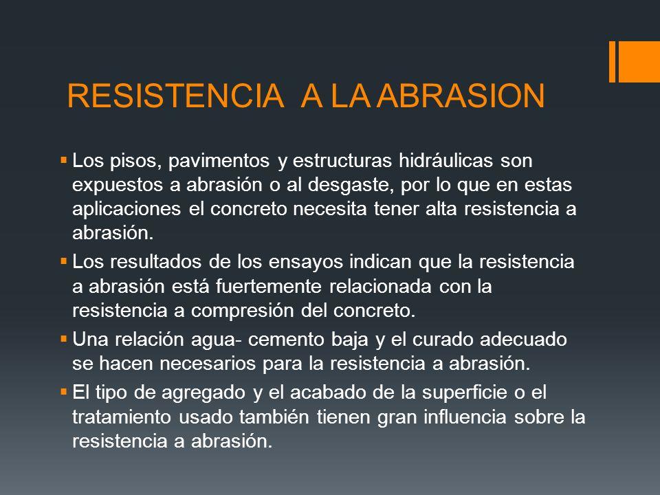 RESISTENCIA A LA ABRASION