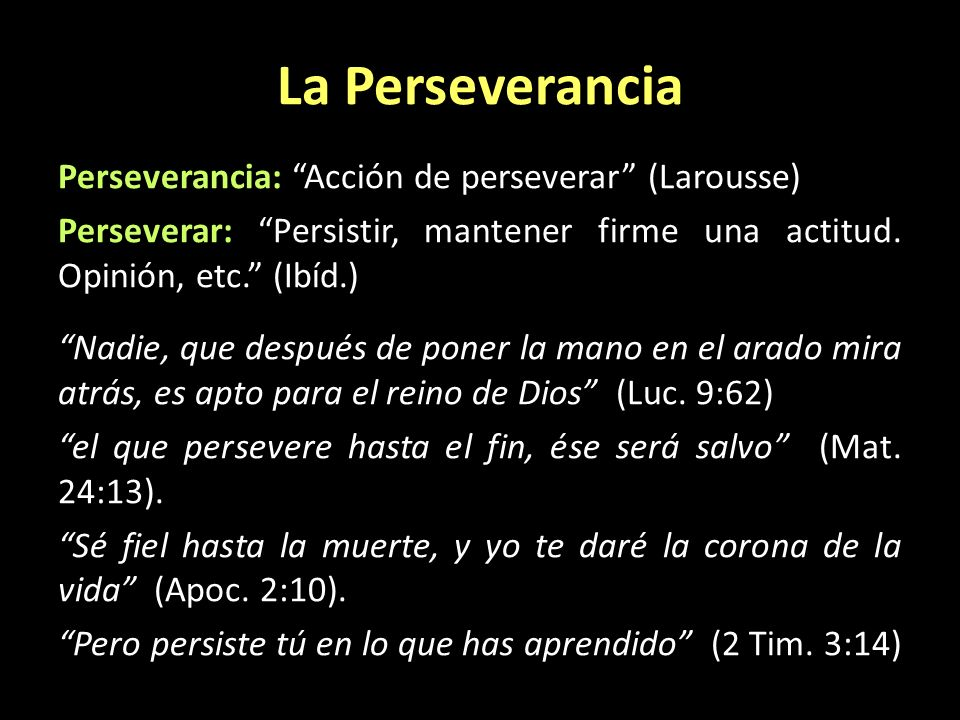 La Perseverancia