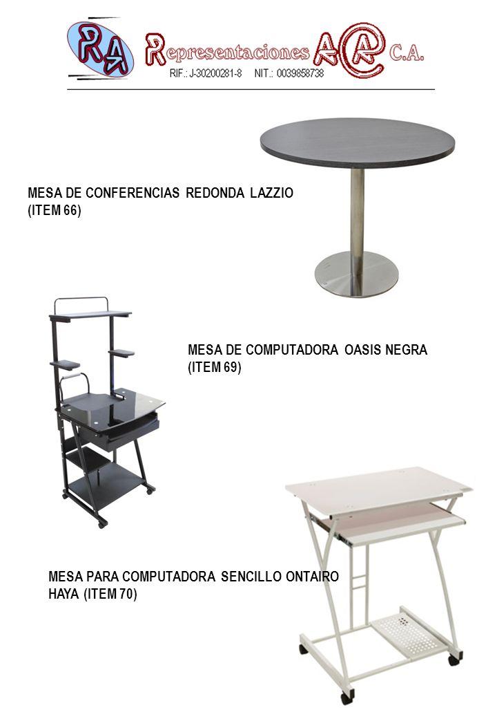 MESA DE CONFERENCIAS REDONDA LAZZIO (ITEM 66)