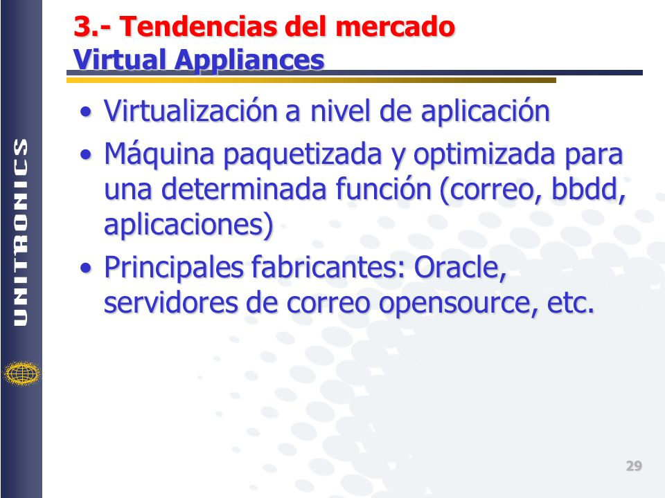 3.- Tendencias del mercado Virtual Appliances