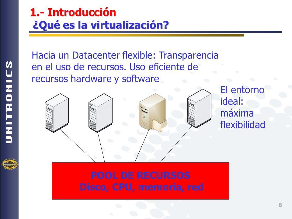 1.- Introducción ¿Qué es la virtualización