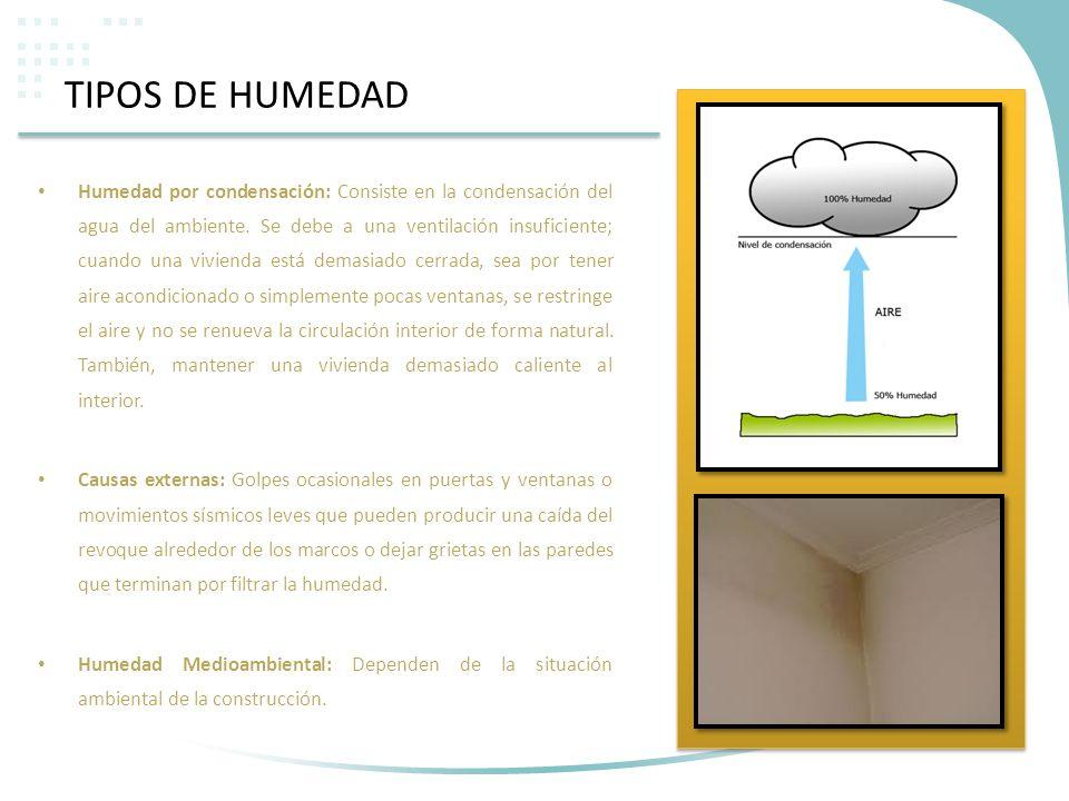 TIPOS DE HUMEDAD