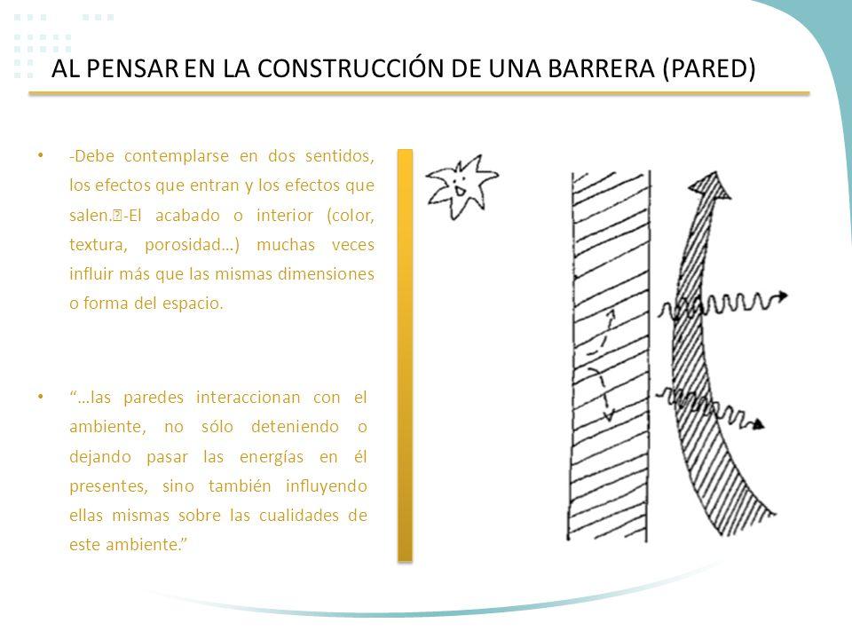 AL PENSAR EN LA CONSTRUCCIÓN DE UNA BARRERA (PARED)