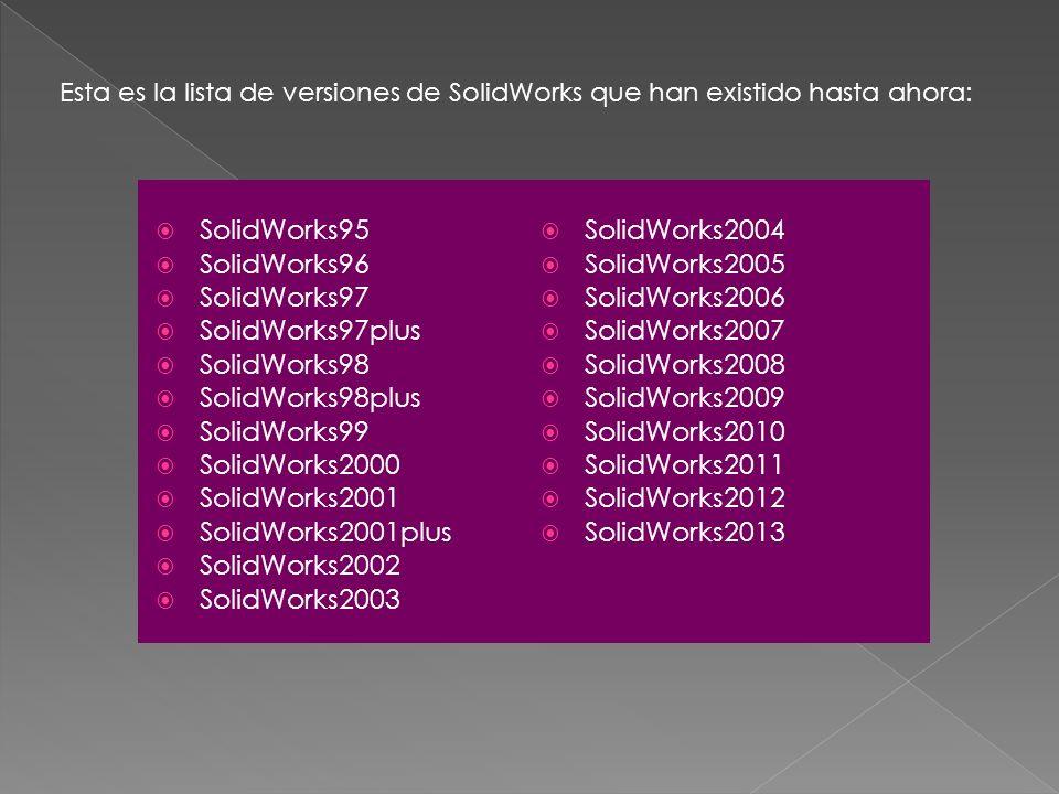 SolidWorks95 SolidWorks2004 SolidWorks96 SolidWorks2005 SolidWorks97