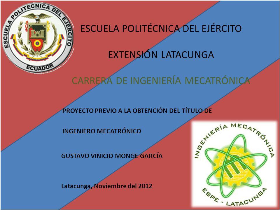 PROYECTO PREVIO A LA OBTENCIÓN DEL TÍTULO DE INGENIERO MECATRÓNICO