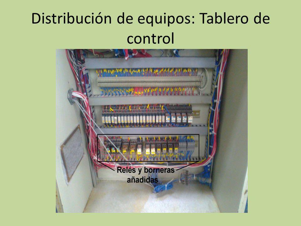 Distribución de equipos: Tablero de control