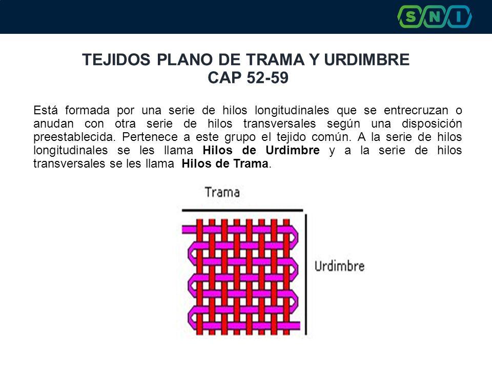 TEJIDOS PLANO DE TRAMA Y URDIMBRE CAP 52-59