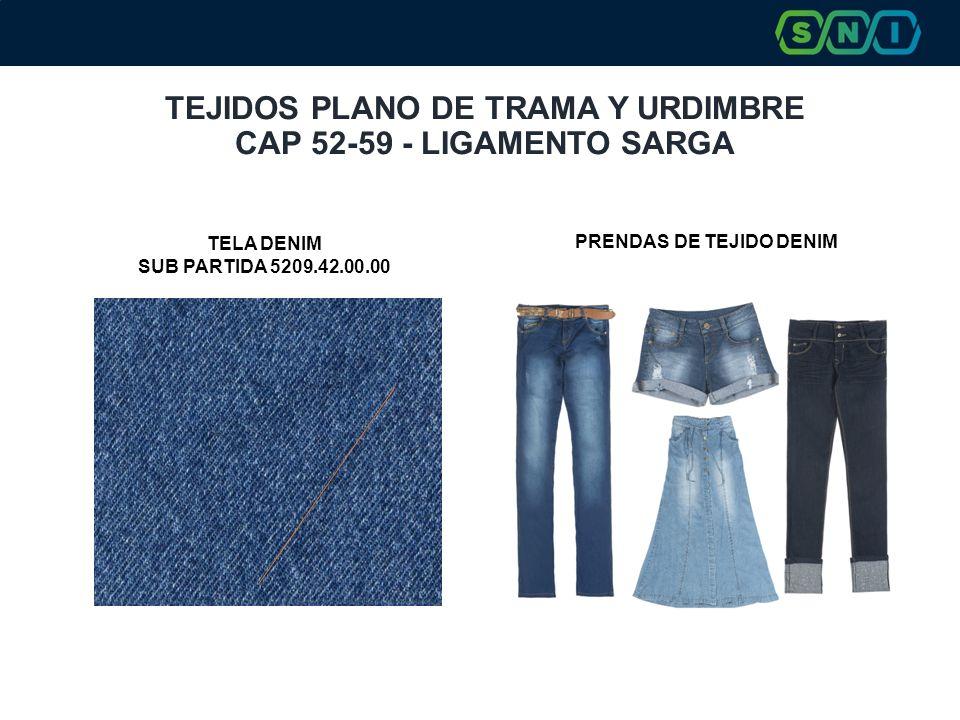 TEJIDOS PLANO DE TRAMA Y URDIMBRE CAP 52-59 - LIGAMENTO SARGA