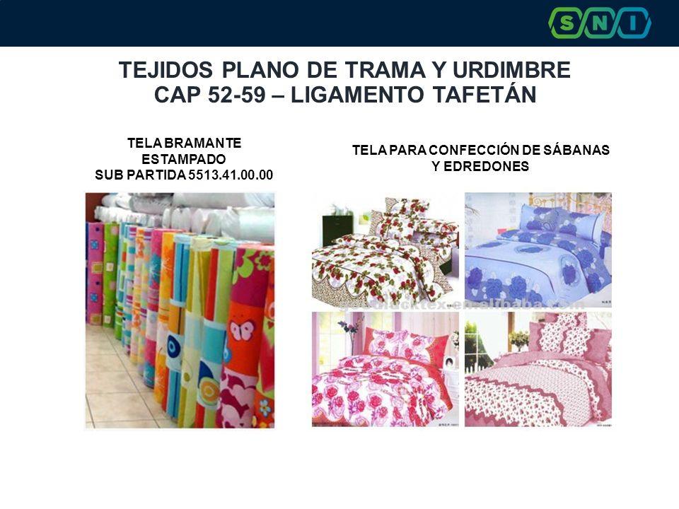 TEJIDOS PLANO DE TRAMA Y URDIMBRE CAP 52-59 – LIGAMENTO TAFETÁN