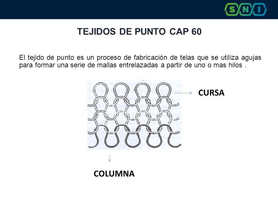TEJIDOS DE PUNTO CAP 60 CURSA COLUMNA