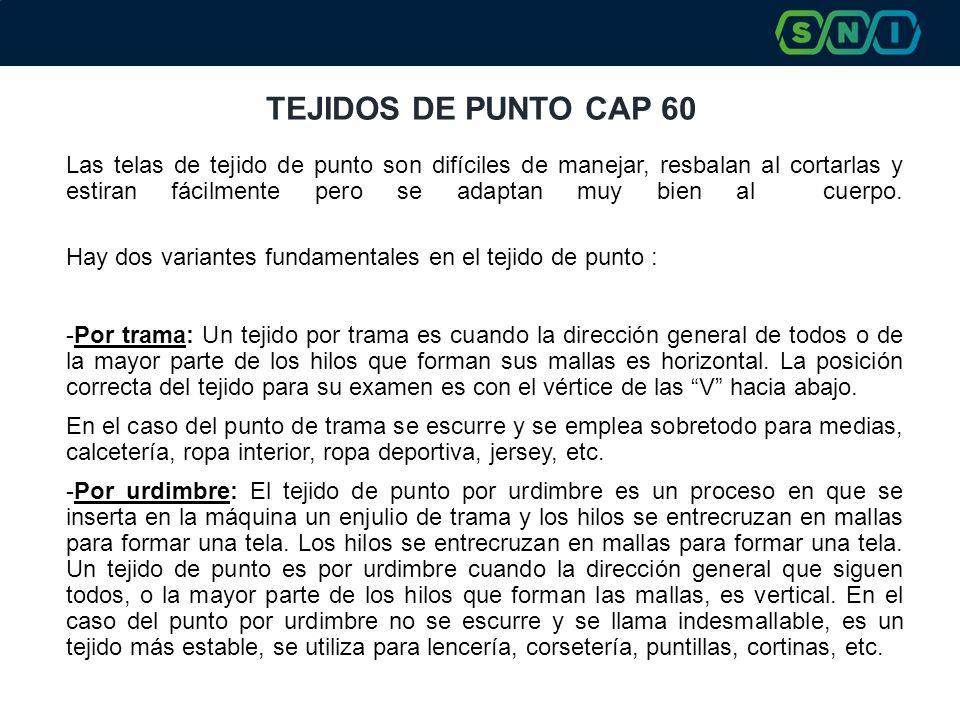 TEJIDOS DE PUNTO CAP 60