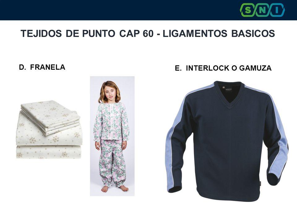 TEJIDOS DE PUNTO CAP 60 - LIGAMENTOS BASICOS