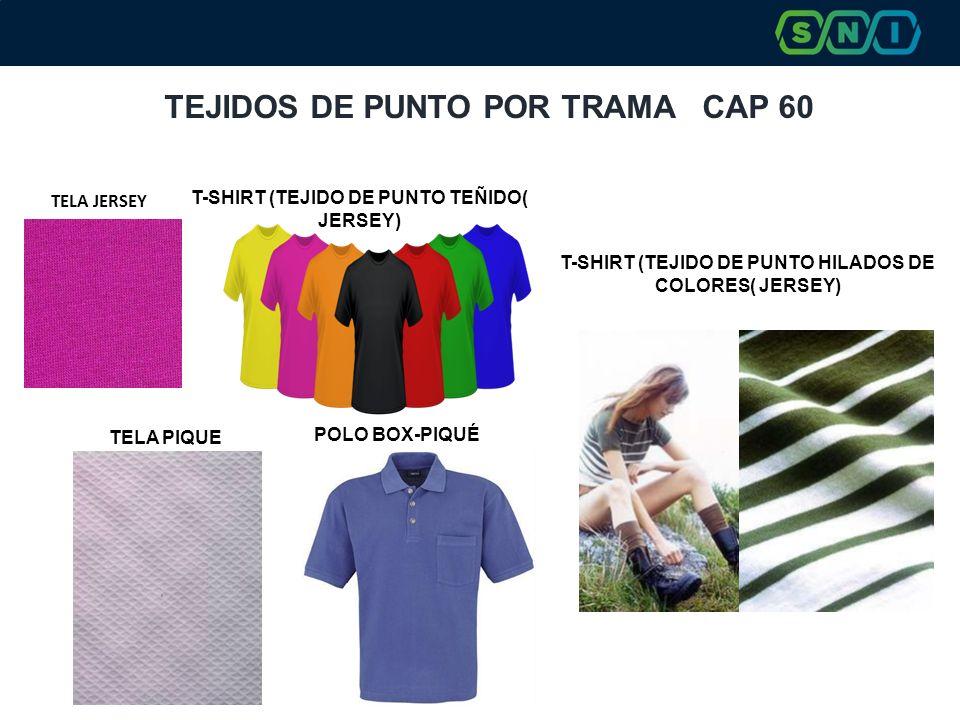 TEJIDOS DE PUNTO POR TRAMA CAP 60