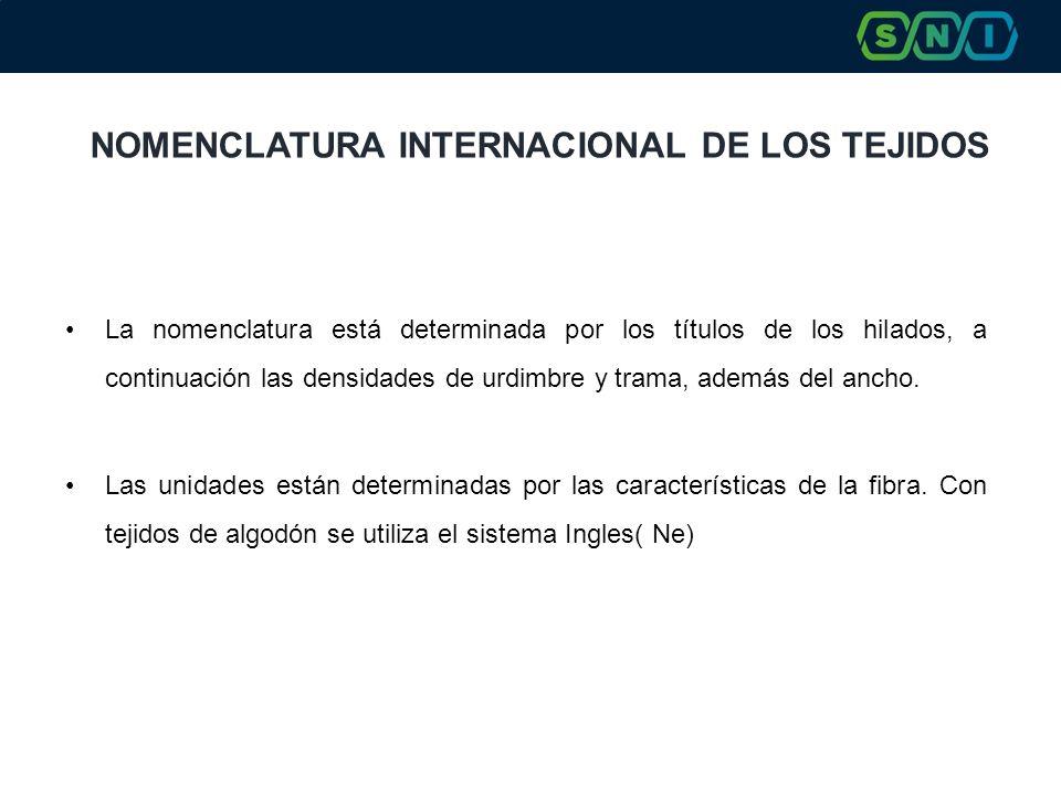 NOMENCLATURA INTERNACIONAL DE LOS TEJIDOS