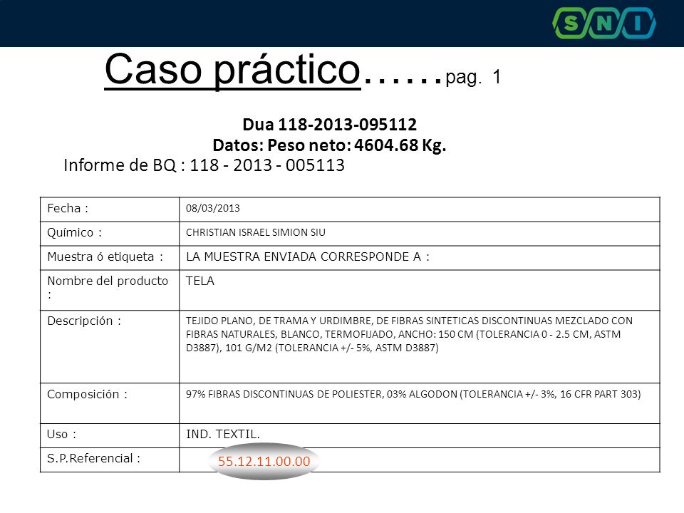 Caso práctico……pag. 1 Dua 118-2013-095112