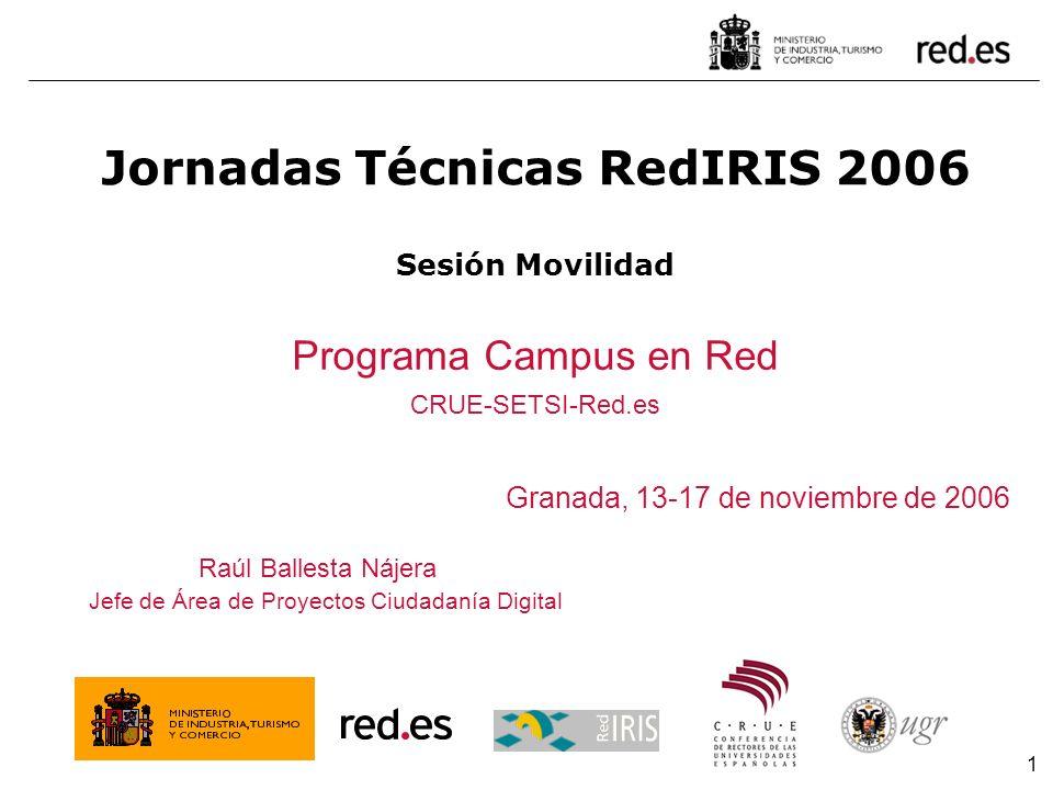 Jornadas Técnicas RedIRIS 2006