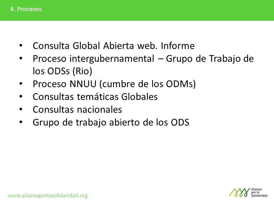 Consulta Global Abierta web. Informe