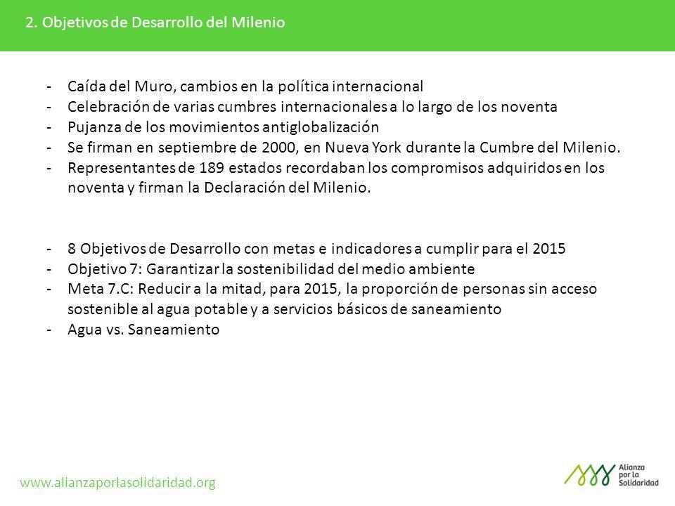 2. Objetivos de Desarrollo del Milenio