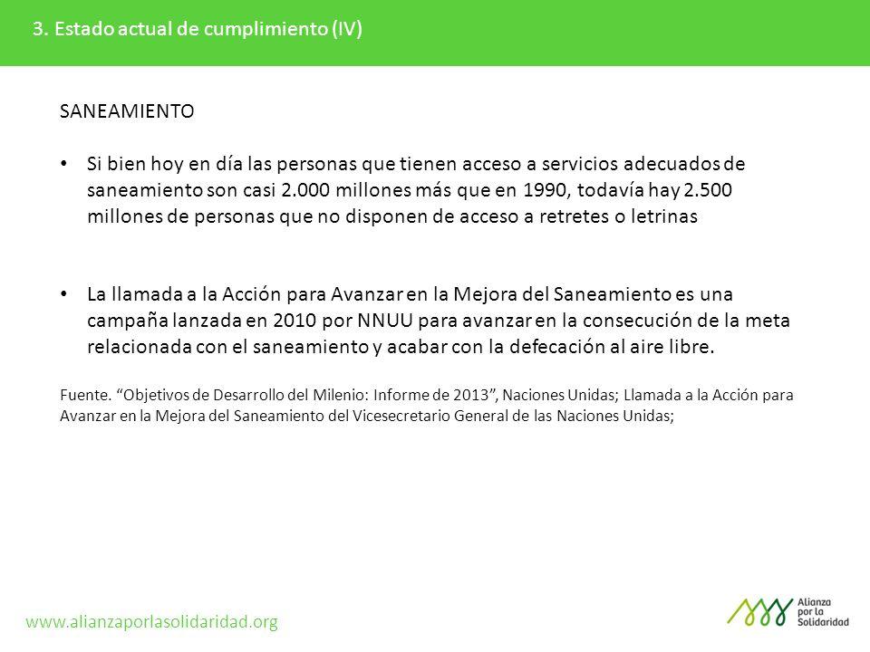 3. Estado actual de cumplimiento (IV)