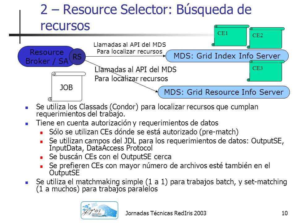 2 – Resource Selector: Búsqueda de recursos