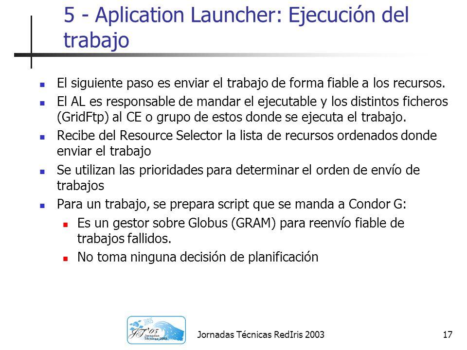 5 - Aplication Launcher: Ejecución del trabajo