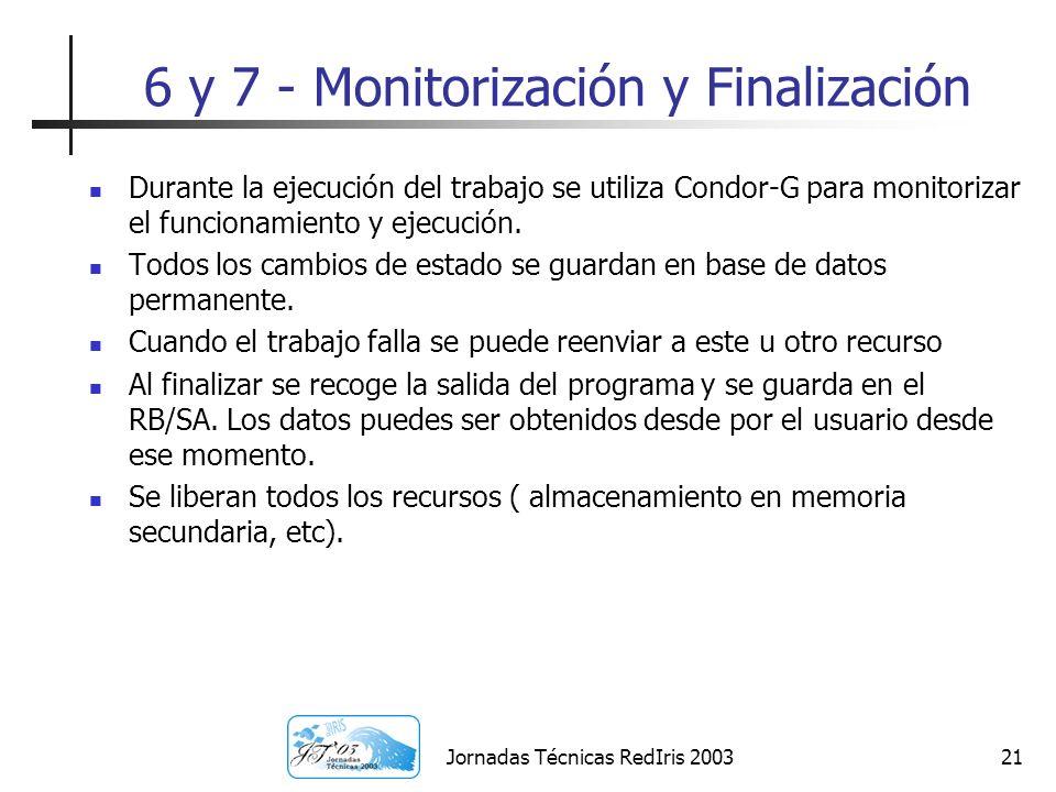 6 y 7 - Monitorización y Finalización