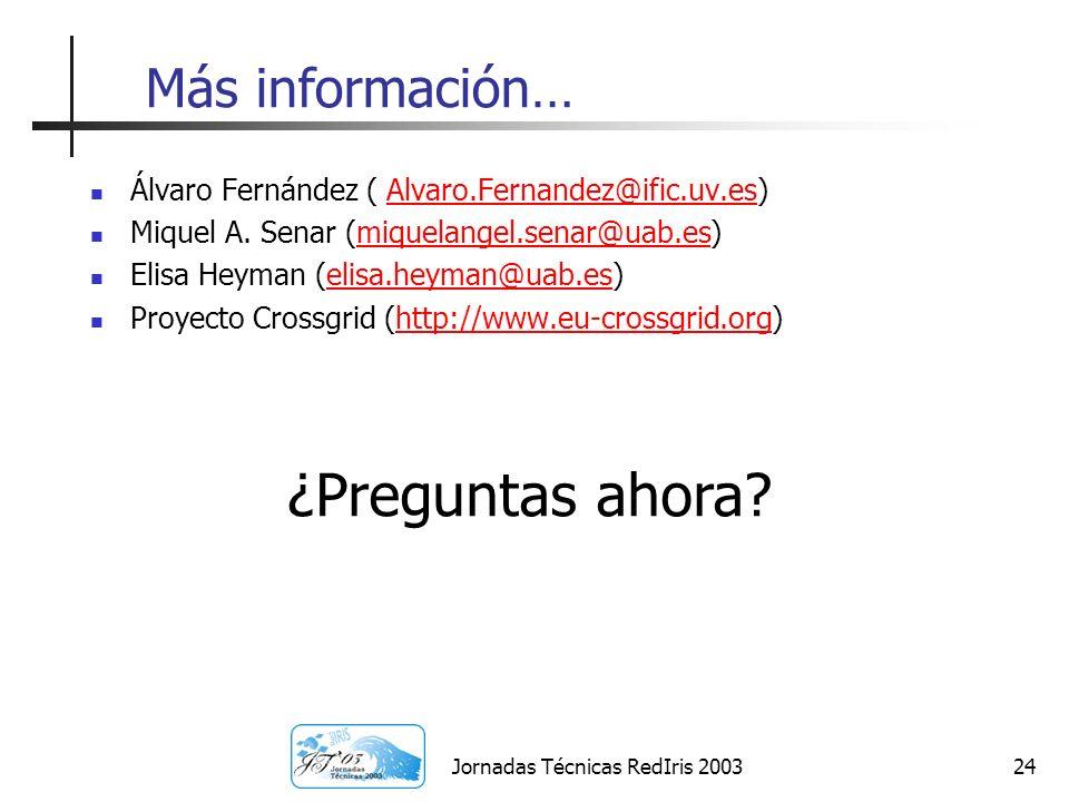 Jornadas Técnicas RedIris 2003