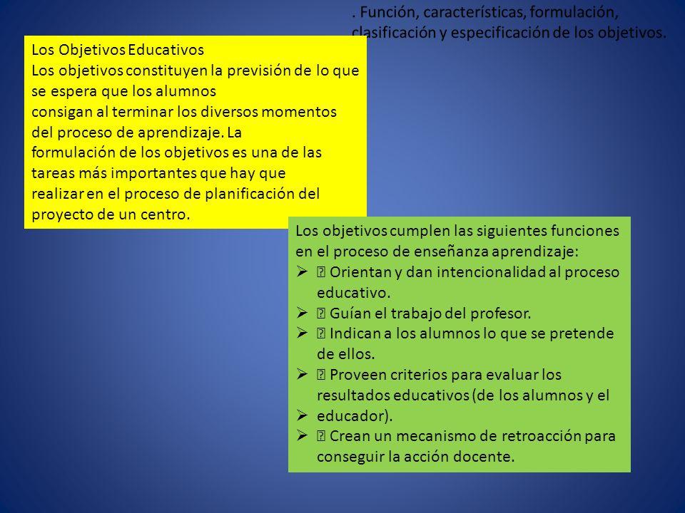 Los Objetivos Educativos