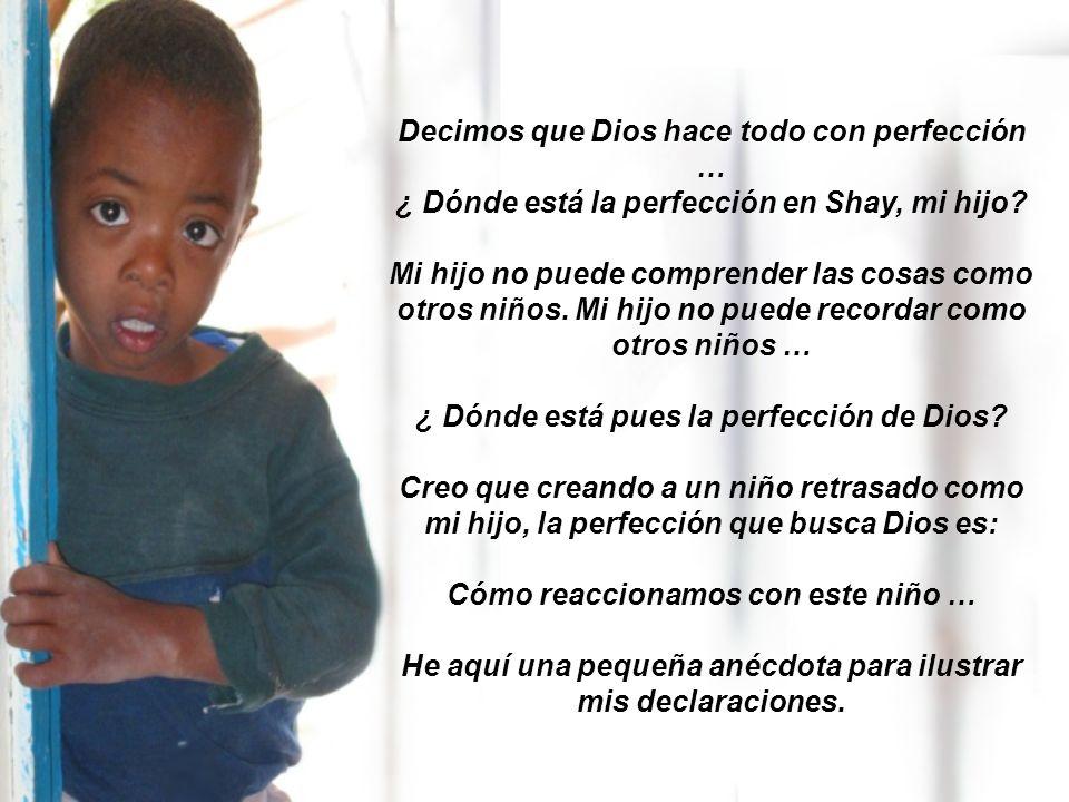 Decimos que Dios hace todo con perfección …