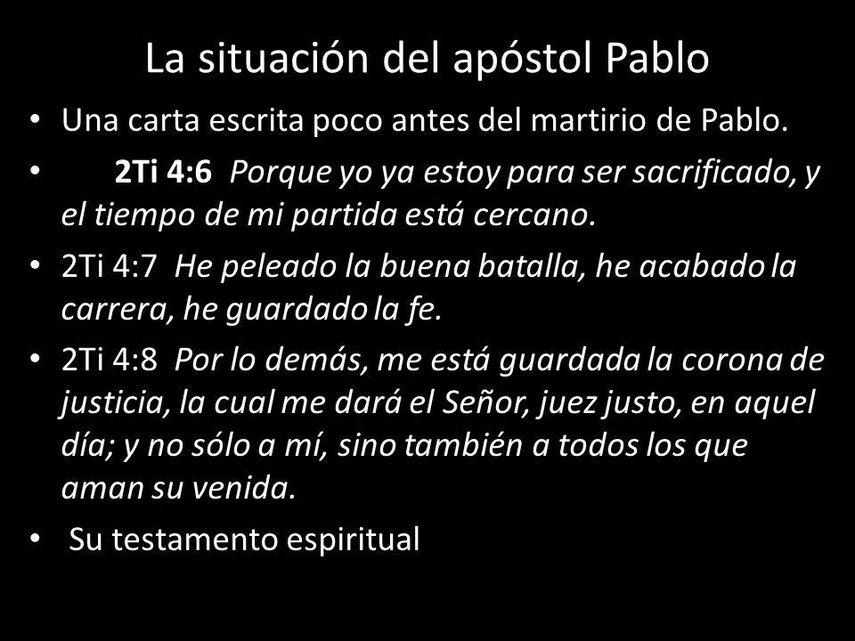 La situación del apóstol Pablo