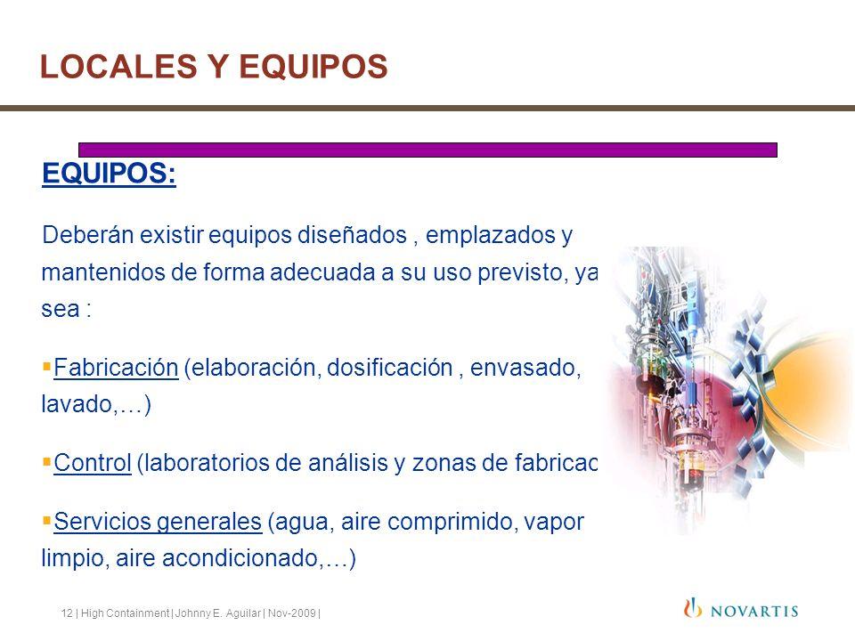 LOCALES Y EQUIPOS EQUIPOS: