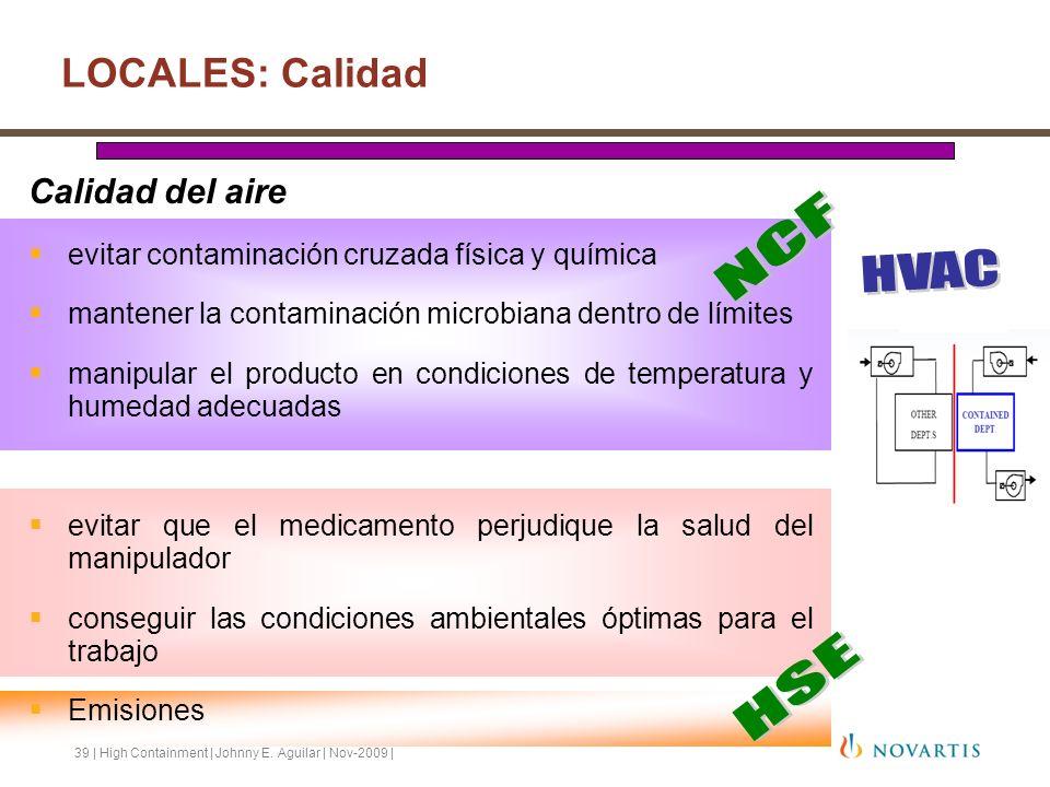 NCF HVAC HSE LOCALES: Calidad Calidad del aire