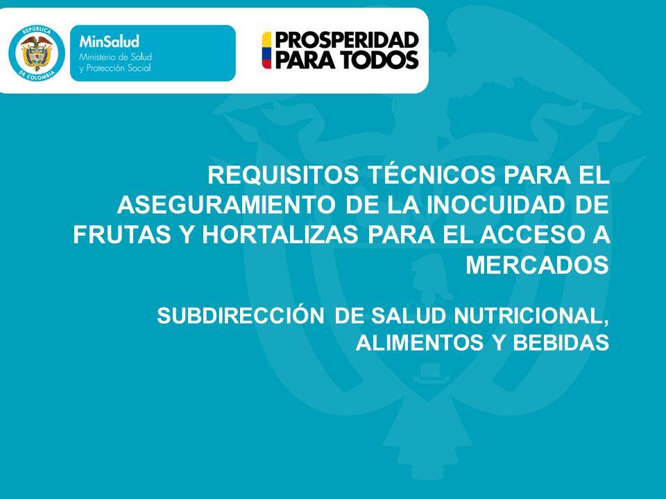 SUBDIRECCIÓN DE SALUD NUTRICIONAL, ALIMENTOS Y BEBIDAS