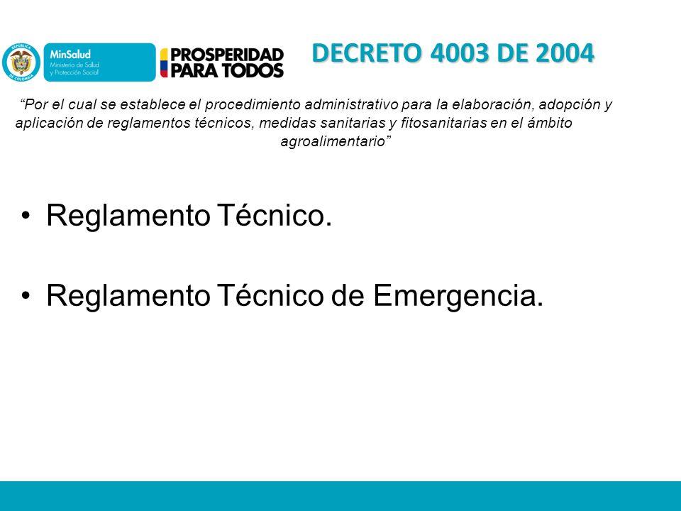 Reglamento Técnico de Emergencia.