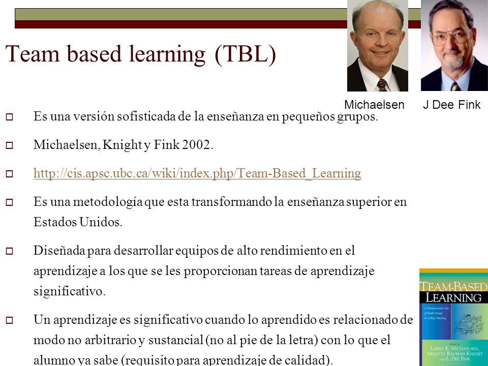 Team based learning (TBL)