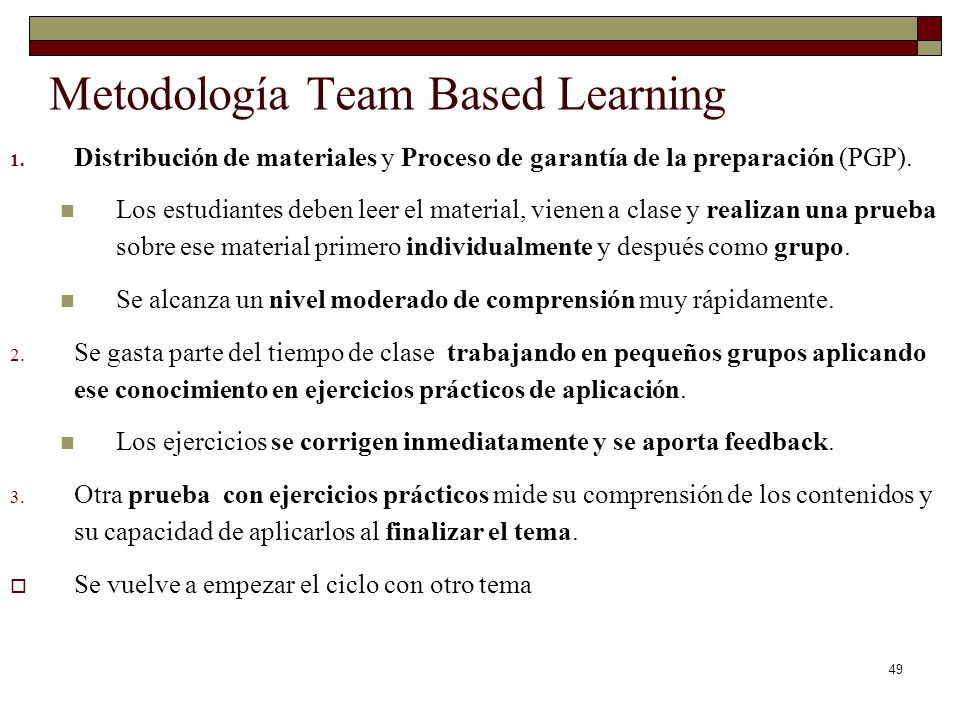 Metodología Team Based Learning