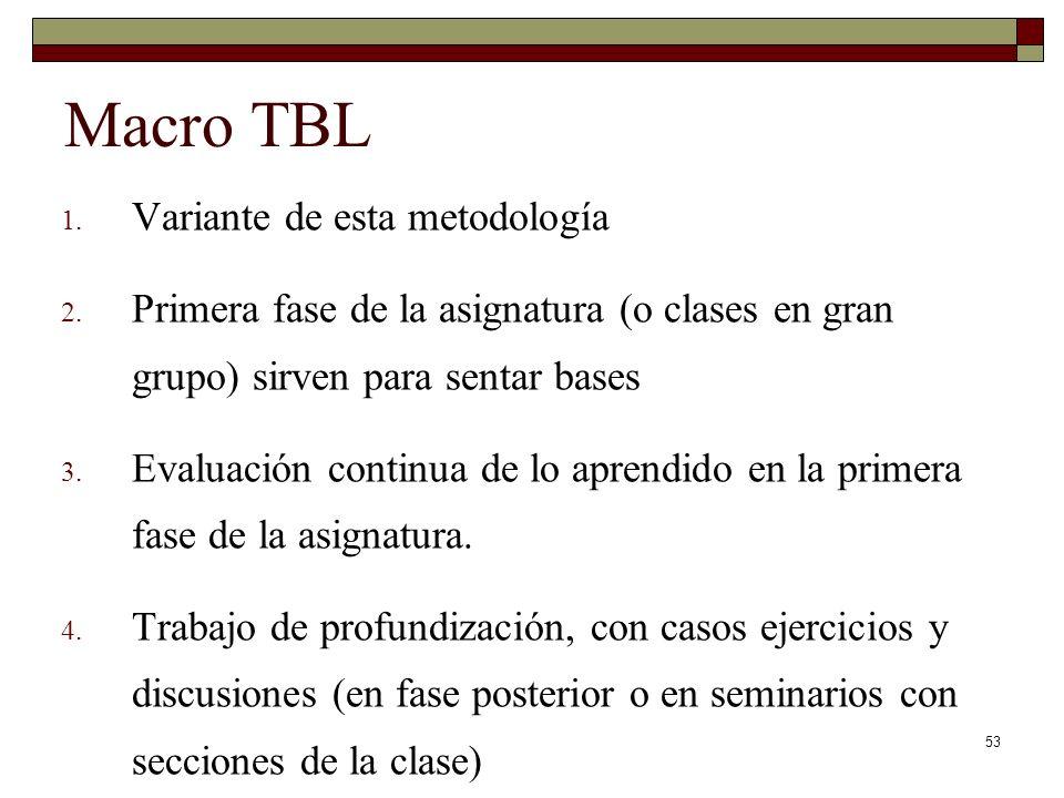 Macro TBL Variante de esta metodología