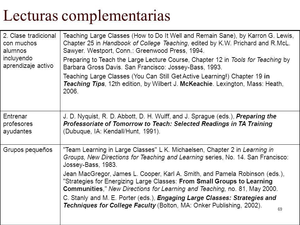 Lecturas complementarias
