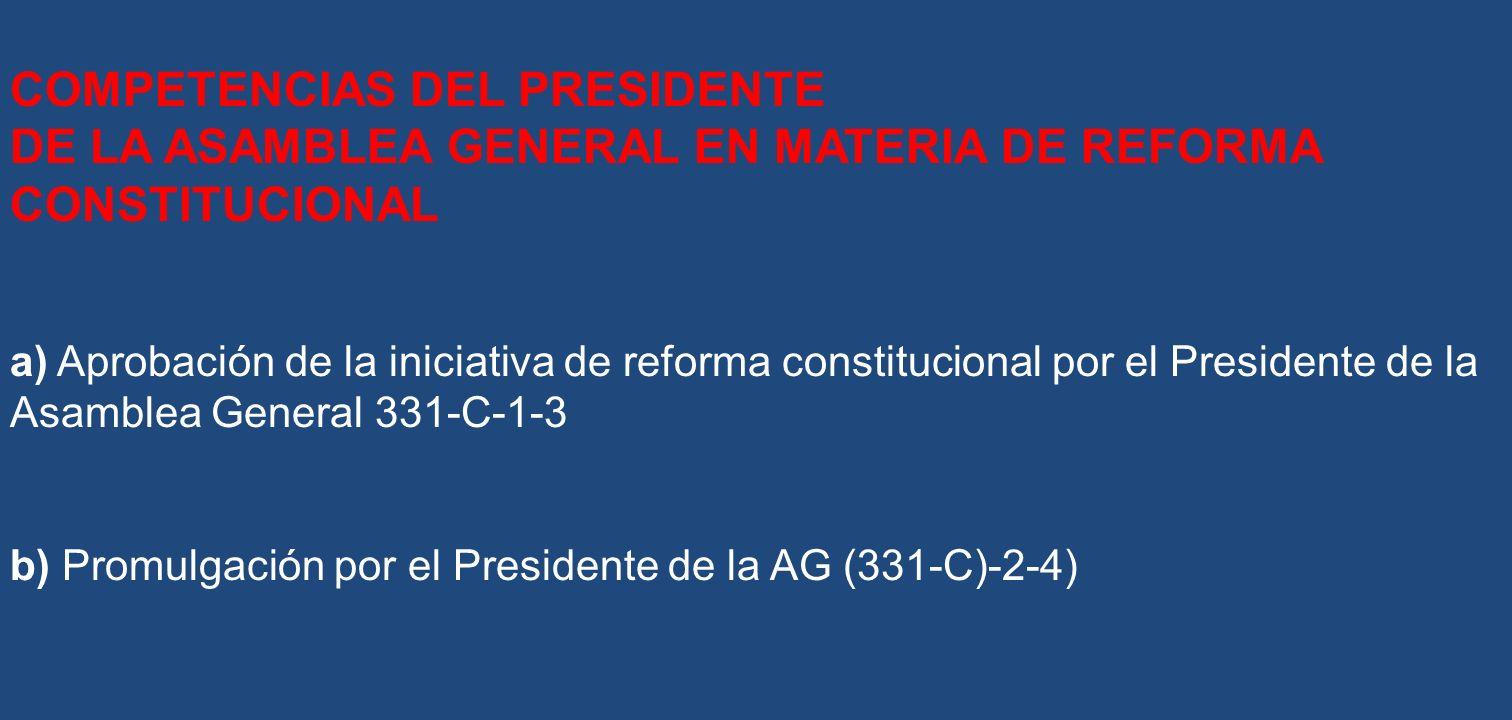 COMPETENCIAS DEL PRESIDENTE