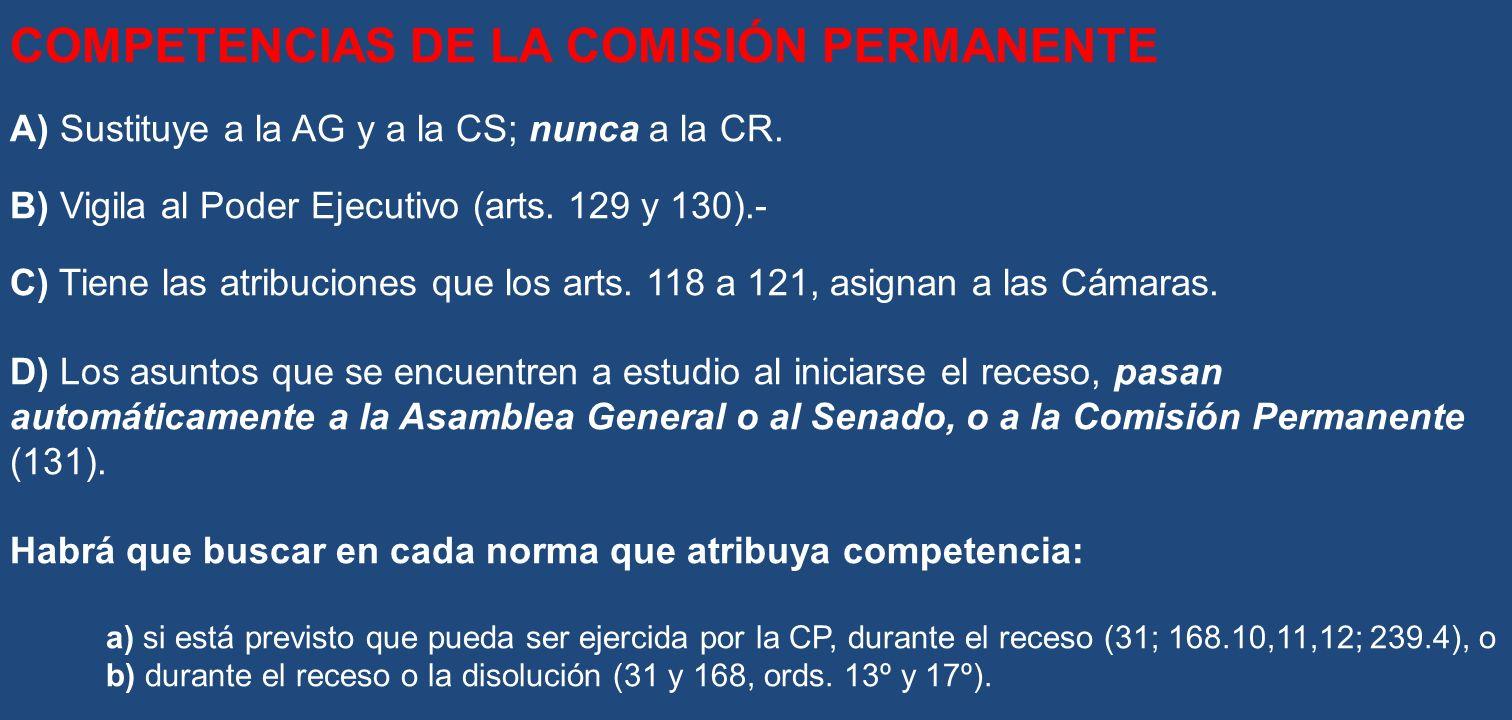 COMPETENCIAS DE LA COMISIÓN PERMANENTE