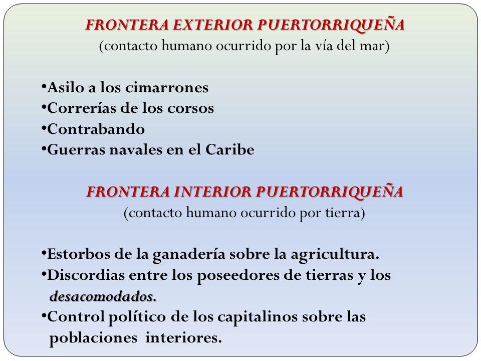 FRONTERA EXTERIOR PUERTORRIQUEÑA FRONTERA INTERIOR PUERTORRIQUEÑA