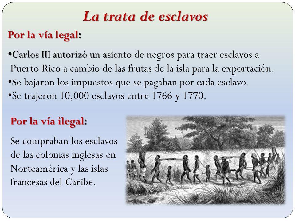 La trata de esclavos Por la vía legal: