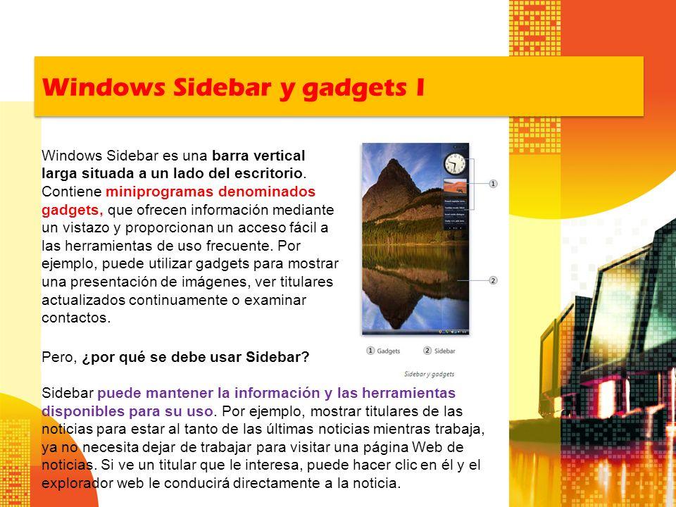 Windows Sidebar y gadgets I
