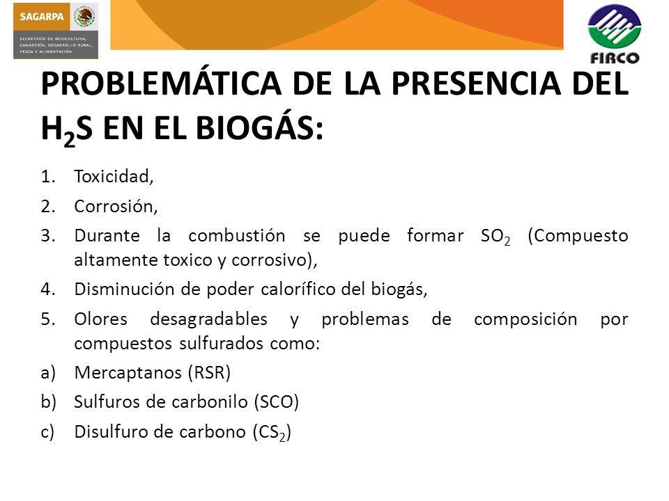 PROBLEMÁTICA DE LA PRESENCIA DEL H2S EN EL BIOGÁS: