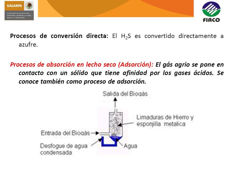 Procesos de conversión directa: El H2S es convertido directamente a azufre.