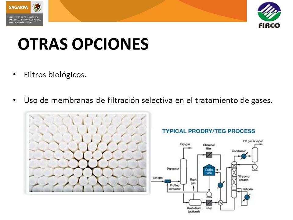 OTRAS OPCIONES Filtros biológicos.