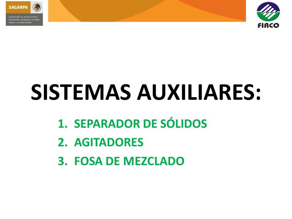 SEPARADOR DE SÓLIDOS AGITADORES FOSA DE MEZCLADO