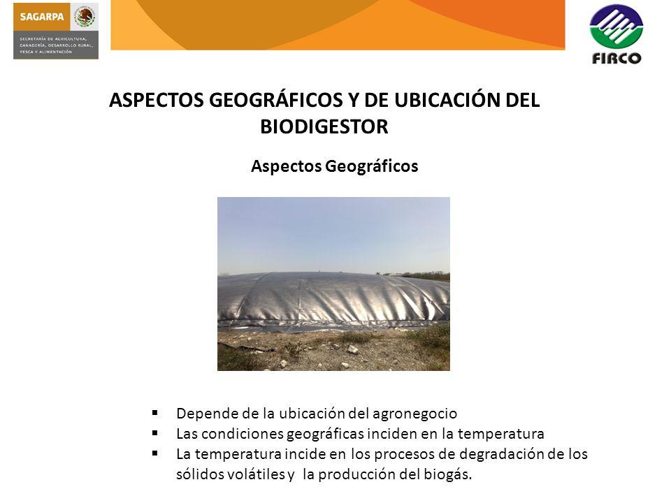 ASPECTOS GEOGRÁFICOS Y DE UBICACIÓN DEL BIODIGESTOR