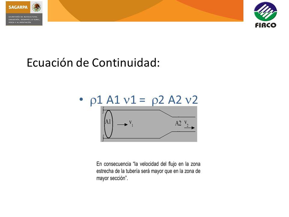 Ecuación de Continuidad: