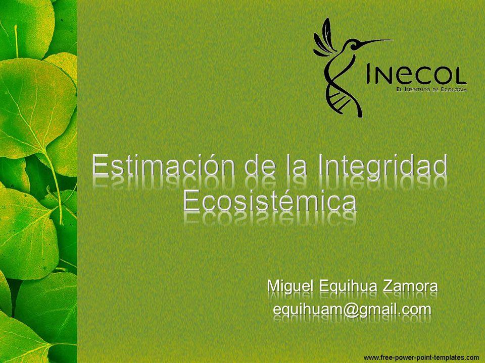 Estimación de la Integridad Ecosistémica